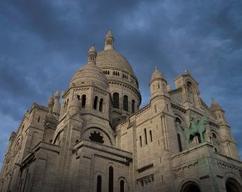 Paris Photography Sacre Coeur Montmartre Photograph Paris Decor Church Wall Art Architecture Home Decor par171
