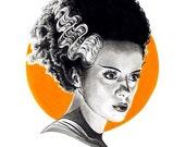 Bride of Frankenstein digital print