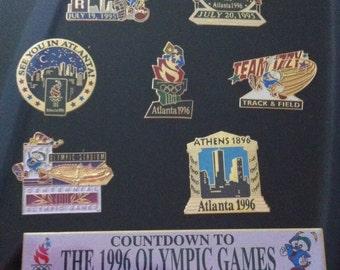 1996 Atlanta Olympics Countdown To Olympic Games Pin Set