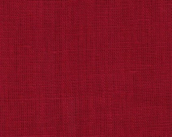 Solid color linen drapes, crimson red linen curtain panels, rod pocket panels, drapes
