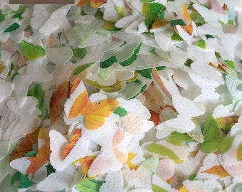 NEW indian style - indian wedding - sparkle confetti - woodland rustic wedding - sparkle biodegradable confetti -  aspen leaves by Uniqdots