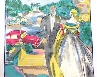 20% Off SALE Coupon Code FAVORITE20 Vintage Rare Hanky Novelty Romantic Theme 1950s