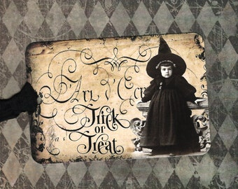 Halloween, Little Witch, Trick or Treat, Treat Tags, Halloween Tags, Party Favors