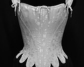 75% off FLASH SALE Labor Day 18th c. Marie Antoinette Corset Stays in  white brocade size small, Historic Steel Boned Rococo Cosplay