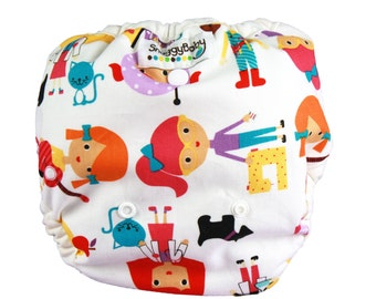 One Size AI2 Cloth Diaper Cover - Girl Power - PATENT PENDING Design Fits Newborn Through Potty Training - Indestructable PUL