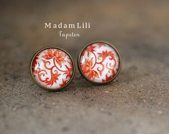 Oriental Wallpapers II  Ear studs