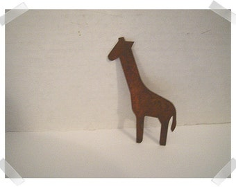 Rusty Metal Giraffe/ Single OR Set of 2/ Craft Supplies*