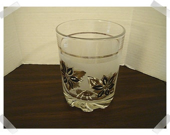 Vintage Italian Glass Flower Patterned Ice Bucket/Home Decor/Supplies*