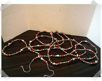 Beaded Metallic Garland/Holiday Decor/Craft Supplies*