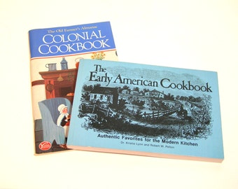 The Early American Cookbook And Colonial Cookbook, Vintage Cookbooks