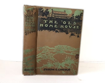Hollow Book Safe The Old Home House Cloth Bound vintage Secret Compartment Security hiding place