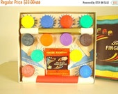 Vintage finger paint set, original box, Tom Sawyer never used complete children's fingerpaint set, nostalgic film prop, 1950s artist display