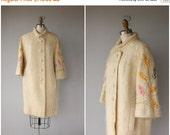 30% OFF AWAY SALE Vintage 60s Coat | Vintage 1960s Coat | 60s Mohair Coat | 60s Wool Coat | Vintage Cocoon Coat | Vintage 50s Coat | Leaf Em