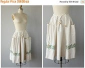 25% OFF SALE... Vintage 1950s Full Skirt | 50s Embroidered Skirt | 1950s Skirt | Vintage 50s Skirt  | Cotton Skirt 50s