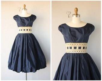 1950s Formal Dress | Vintage 1950s Dress | 50s Dress | 1950s Taffeta Party Dress | 50s Party Dress