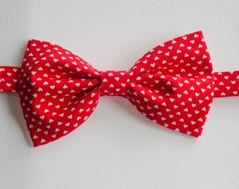 Bowtie - Baby, Toddler, and Little Boys Red Valentine Heart Print Bowtie