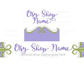 Etsy Shop Banners - Etsy Banners - Geometric Etsy Banners - Boutique Etsy Shop Banners - Etsy Banner Sets - 2 Piece - 3-16