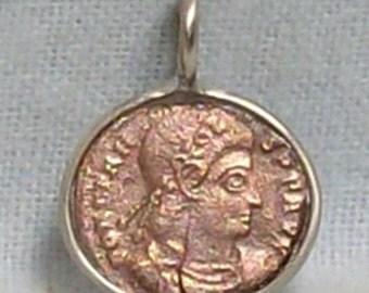 Roman Imperial (Emperor Constans) Coin Pendant (E-974)
