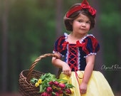Snow White inspired princess dress size 3t ball gown
