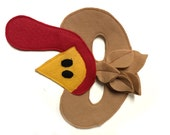 Children's Thanksgiving TURKEY Farm Animal Felt Mask