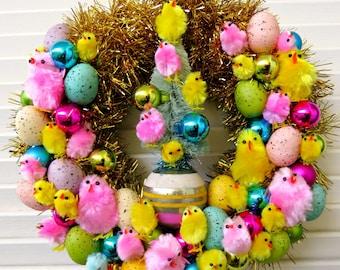 FUN Easter Springtime Wreath PEEP