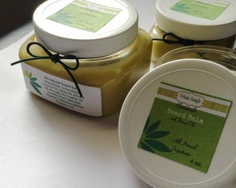 FALL SALE 4 Ounce Natural Herbal Beard Balm With Hemp Oil