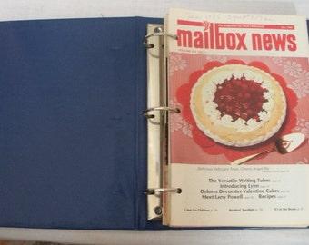 Vintage 1985 Binder of 12 Months Mail Box News Cake Decorating Booklets
