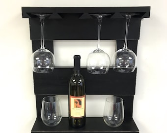 Items Similar To Industrial Hanging Wine Rack Made With