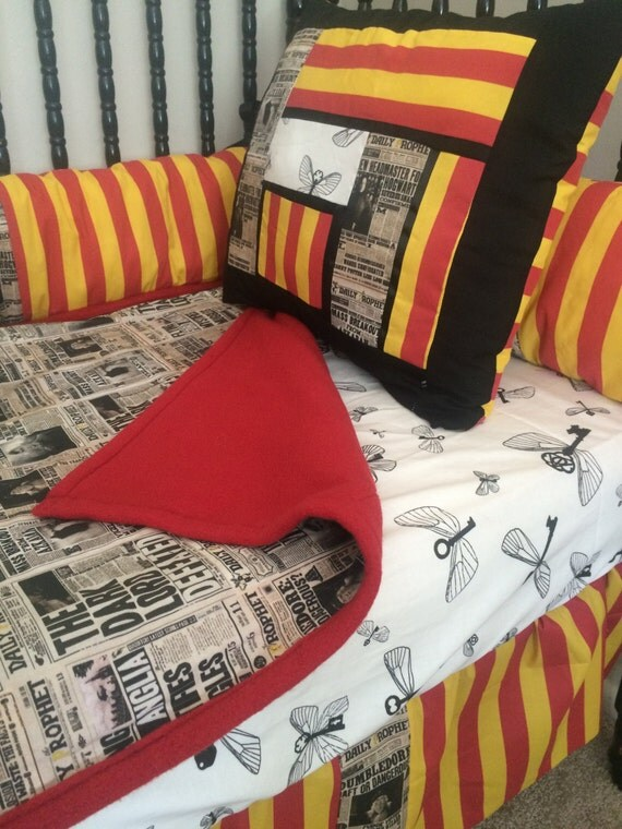Harry potter crib bedding free personalized pillow - Harry potter crib set ...