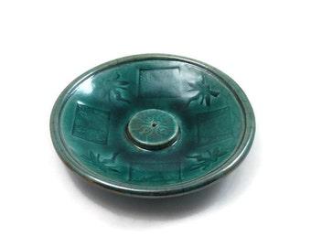 Incense Burner FAIRY Handmade Raku Pottery