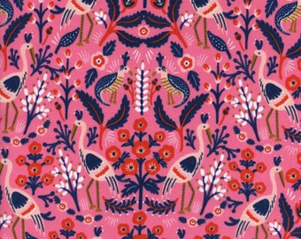 Cotton + Steel - Rifle Paper Co. - Les Fleurs - Tapestry in Rose