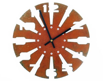 Sawblade II, Medium Wall Clock, Rusted Wall Clock, Rustic Wall Clock, Unique Wall Clock, Modern Wall Clock, Steampunk Wall Clock, Metal Art