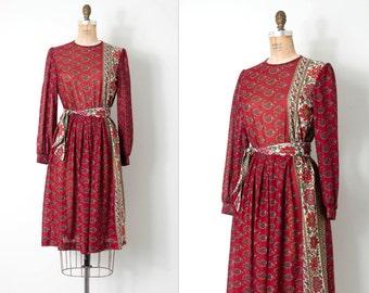 vintage 1970s dress / paisley print 70s dress / The Inside Scoop