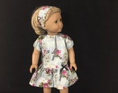 Doll Clothes for American Girl and Some Other 18 Inch Dolls Love Paris Eiffel Tower Roses Dress