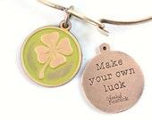 Luck Reminder Token Charm Bracelet or Necklace