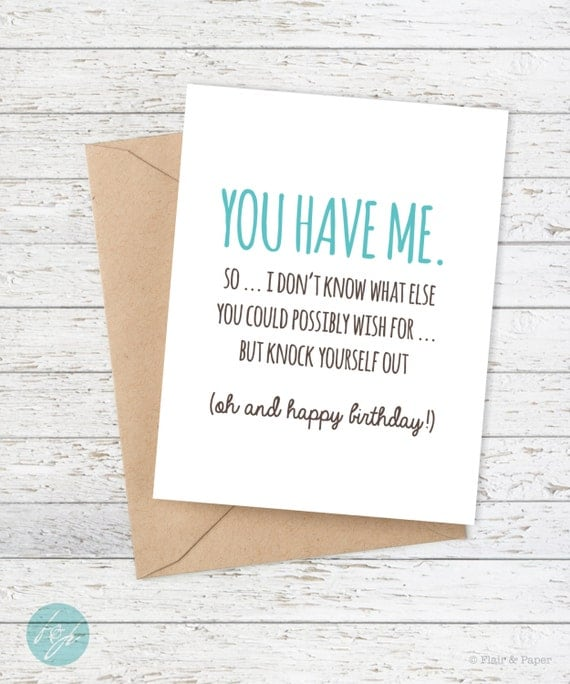 Birthday Card Funny Boyfriend Card Funny on 30th Anniversary Personalized Ts