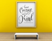 NEW FOR CHRISTMAS 2015-Vinyl Lettering Wall Decal- Have Courage and be Kind. Item 1634 New Standard Size 11x14 inches