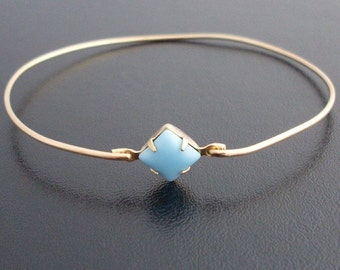 Turquoise Blue Bangle Bracelet, Janina, Light Blue Bracelet, Light Blue Jewelry, Turquoise Bangle Bracelet, Turquoise Bracelet