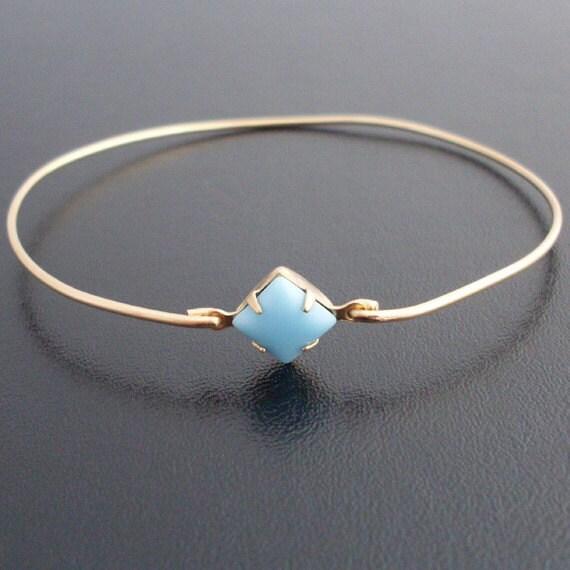 Turquoise Blue Bangle Bracelet, Janina, Light Blue Bracelet, Light Blue Jewelry, Turquoise Bangle Bracelet, Turquoise Bracelet