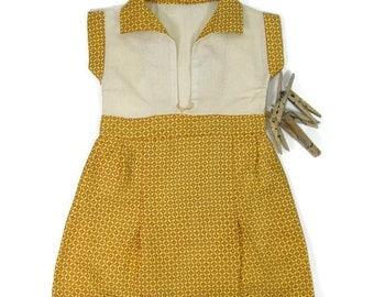 Vintage Clothes Pin Bag Yellow Dress Clothes Line Bag Laundry Pin Bag