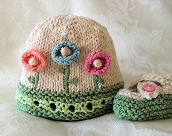 Baby Hat Knitting Knit Baby Hat Knitted Baby Hat Knitted baby hats  Clothing Cotton Knitted Baby Hat with Flower Knitted Baby Beanie