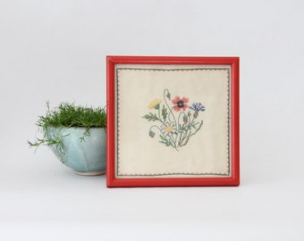 floral needlepoint. cross stitch.