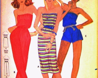 butterick fast and easy pattern 3111 ~ misses dress and jumpsuit ~ (1980ish) ~ UNCUT