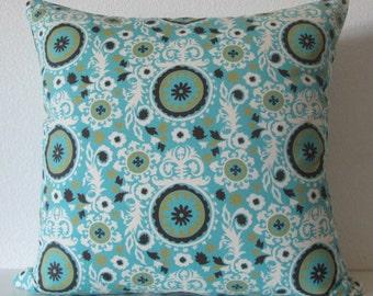 Pillow Cover - Blue - Retro Print - Suzani - decorative - Cushion Cover