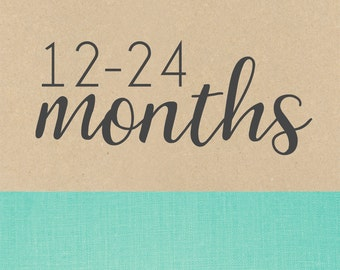 12-24  MONTHS PAGES // baby book, baby gift, toddler scrapbook, add on page, baby keepsake