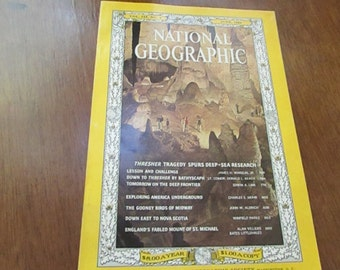 June 1964 Issue - National Geographic Magazine - Original Copy – Vintage Collectible Magazine