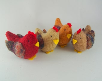 Waldorf toy, stuffed animal, toy chickens, eco friendly toy, waldorf chickens, all natural toy, barnyard hens,