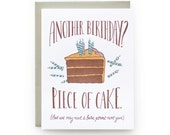 Piece of Cake - letterpress card