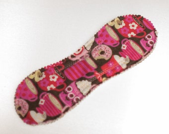 Heavy Absorb Short Pad in Coffee Lover - Reusable Cloth Pad