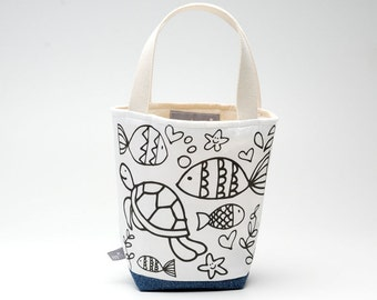 Color Me Mini Tote, Under The Sea